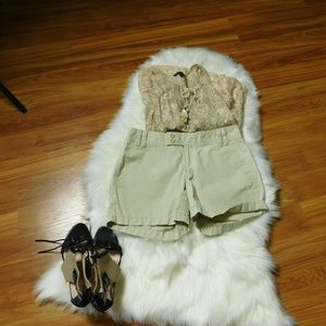 Banana Republic Cotton Zip Up Shorts